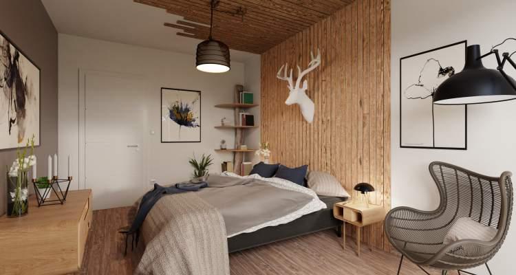 Appartement neuf T3 Héricourt chambre