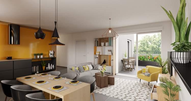 Appartement neuf T3 Héricourt salon