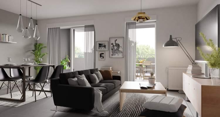Appartement neuf T3 Héricourt séjour