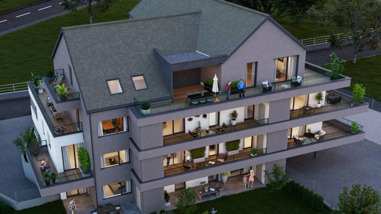 Perspective résidence Les Terrasses du Moulin à Rosenau