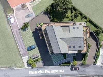 Résidence Les Terrasses du Moulin à Rosenau, vue du dessus